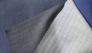 Ce tissu avec de très fines lignes est idéal pour donner du peb à une veste de manière discrète