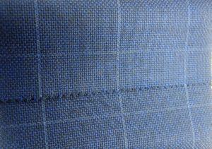 extrait en image du tissu bleu avec carreaux blanc