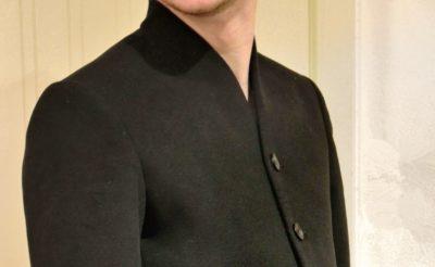Manteau sur-mesure homme avec col mao