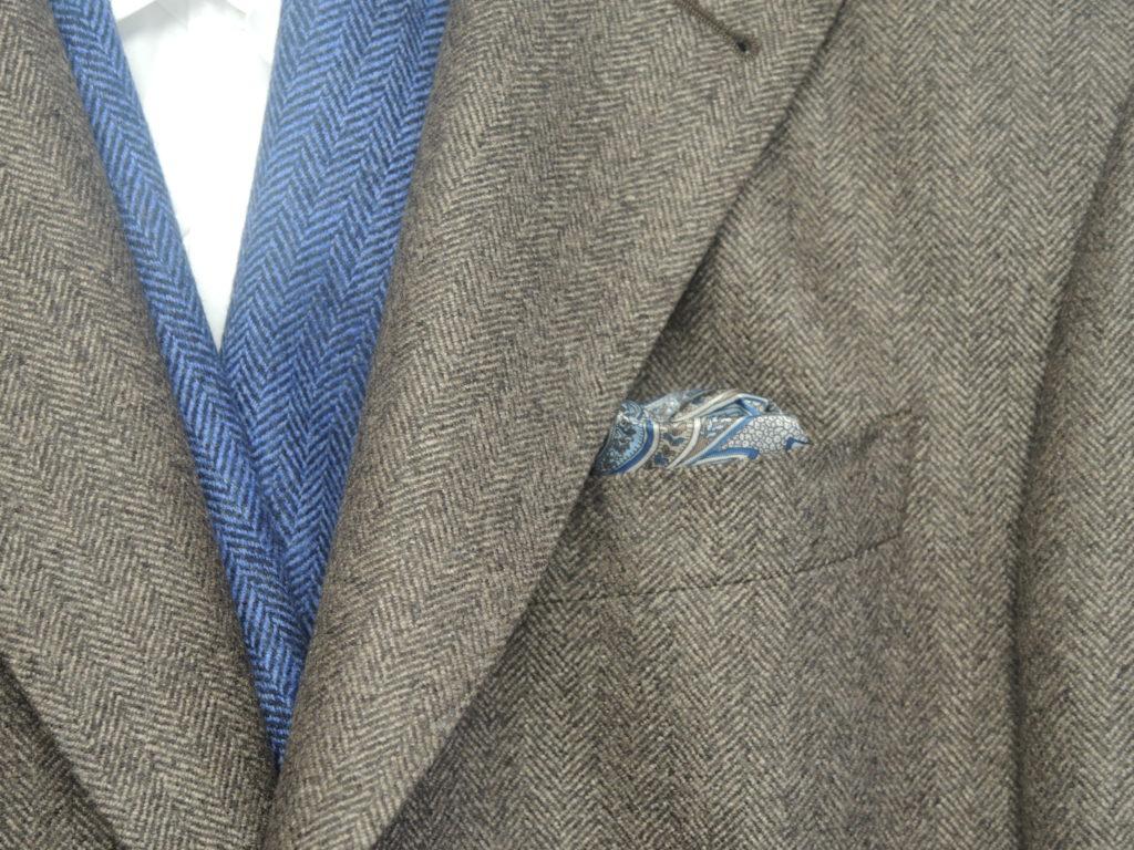 Veste en tweed avec gilet