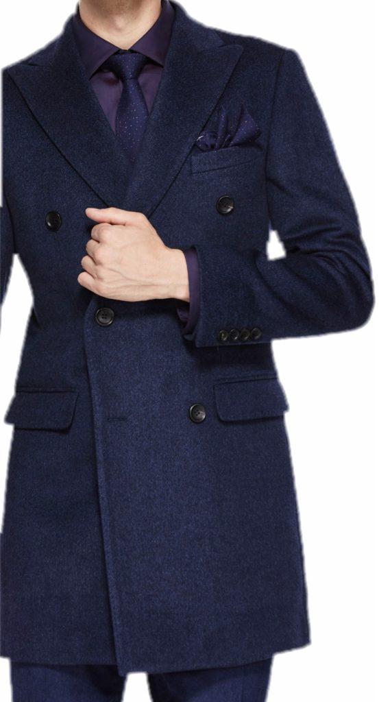 Manteau 3/4 avec poches à revers